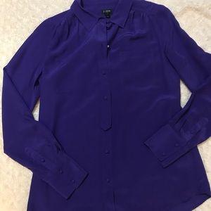🌹J. Crew silk button-down shirt/work blouse
